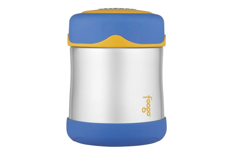 Thermos 290ml Foogo Vacuum Insulated Stainless Steel Food Drink Jar Flask Blue