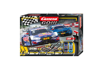 Carrera Go 1:43 6.2m DTM Championship Slot Car Racing Tracks Kids Toy 6y+ w/ RC