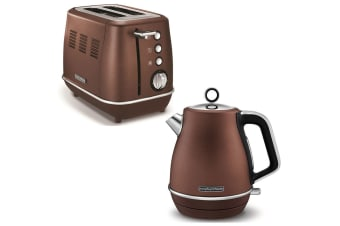 Morphy Richards Evoke Stainless Steel 2 Slice Toaster & 1.5L Jug Kettle Bronze