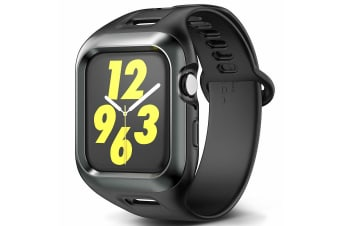 Apple Watch Case Cover Series 5 44mm YOUMAKER HEAVY DUTY TOUGH ARMOR Band Strap