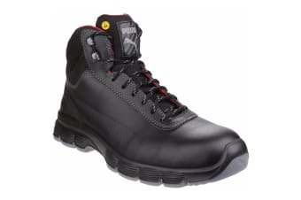 Puma Safety Mens Pioneer Mid Lace Up Safety Boot (Black)