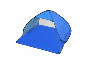 Easy Pop Up Portable Beach Canopy Sun Shade Shelter Outdoor Camping Fishing Tent  -  4 PersonBlue