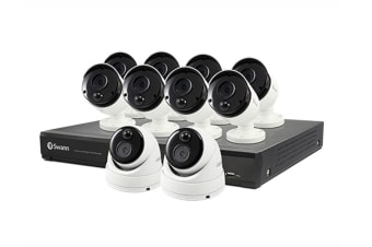 Swann 16 Channel 5MP DVR Security System with 10 x 5MP Thermal Sensing Security Cameras (SODVK-1649808B2D-AU)