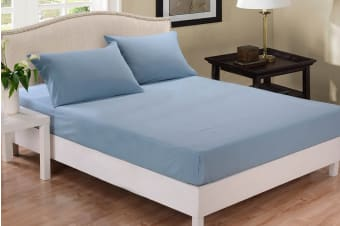Park Avenue 1000 Thread Count Cotton Blend Combo Set (Blue Fog)