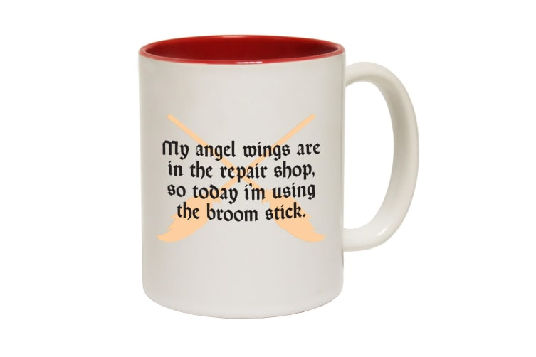 123T Funny Mugs - My Angel Wings - Red Coffee Cup