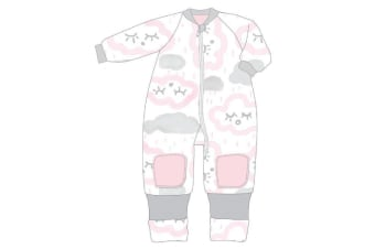 Baby Studio Winter Warmies Cotton With Arms - 3.0 Tog 12-24M CLOUDS - PINK