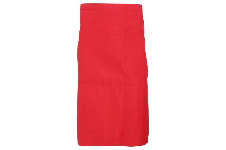 Dennys Adults Unisex Catering Waist Apron With Pocket (Red) (One Size)