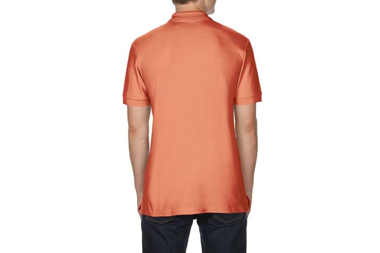 Gildan Mens Premium Cotton Sport Double Pique Polo Shirt (Terracota) (M)