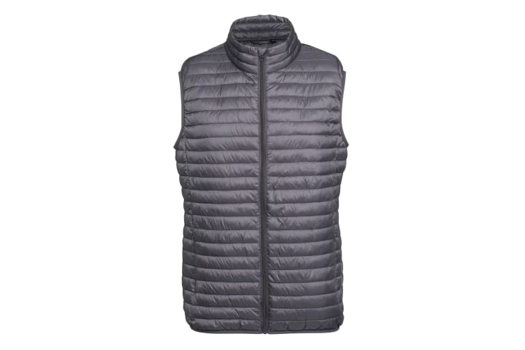 2786 Mens Tribe Fineline Padded Gilet/Bodywarmer (Steel) (M)