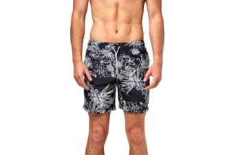 Bonds Men's Boardie (Navy Tropical, Size S)