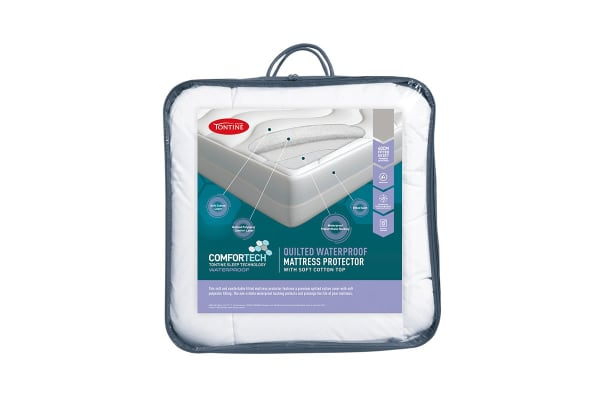 Tontine Comfortech Quilted Waterproof Mattress Protector (Single)
