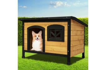 i.Pet Dog Kennel Kennels Outdoor Wooden Pet House Puppy Extra Large XL