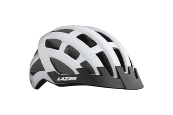 Lazer COMPACT Bike Bicycle Cycling Adult Helmet White Unisize