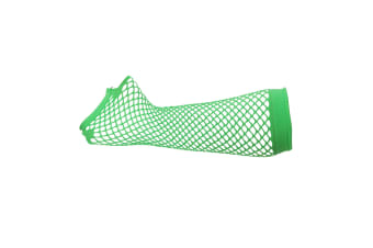 Silky Womens/Ladies Long Fishnet Gloves (1 Pair) (Neon Green) (One Size)