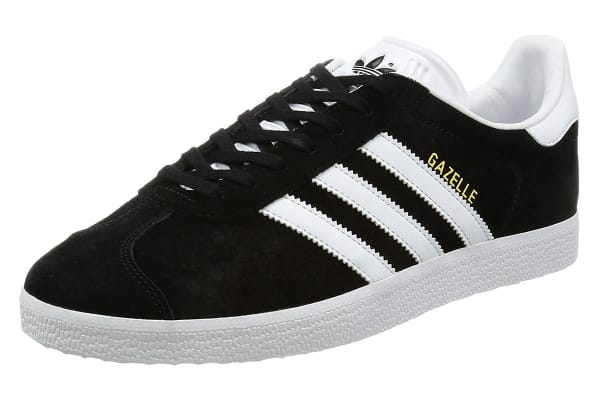Adidas Originals Men's Gazelle Shoe (Core Black/White, Size 12 UK)