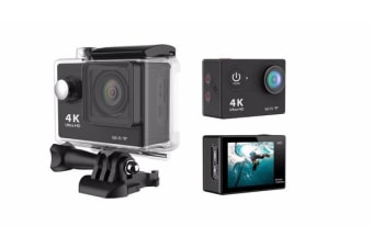 "4K Ultra Hd Sports Camera 30M Waterproof 2"" Lcd H9 Action Camera - Black"
