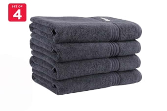 Onkaparinga Ethan 600GSM Bath Towel Set of 4 (Charcoal)