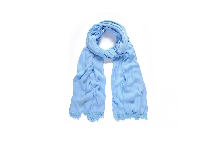 Intrigue Womens/Ladies Modal Plain Long Scarf (Sky Blue) (One Size)