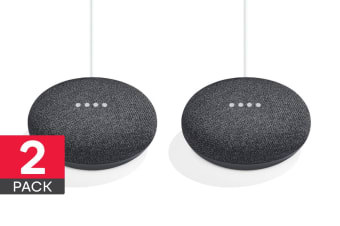 Google Home Mini (Charcoal) - 2 Pack