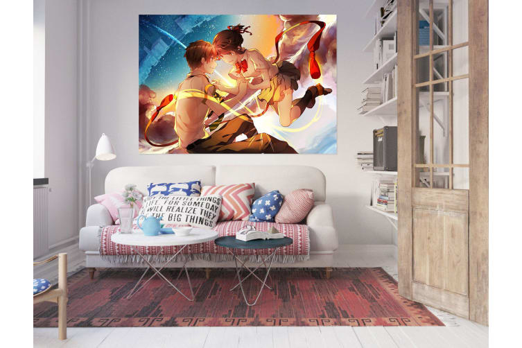 3D Your Name 834 Anime Wall Stickers Self-adhesive Vinyl, 180cm x 100cm(70.8'' x 39.3'') (WxH)