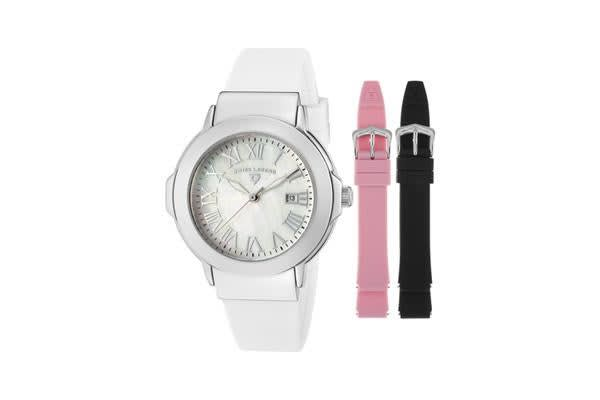 Swiss Legend Women's South Beach White MOP Dial Pink Silicone (SL-20032-02-SET)