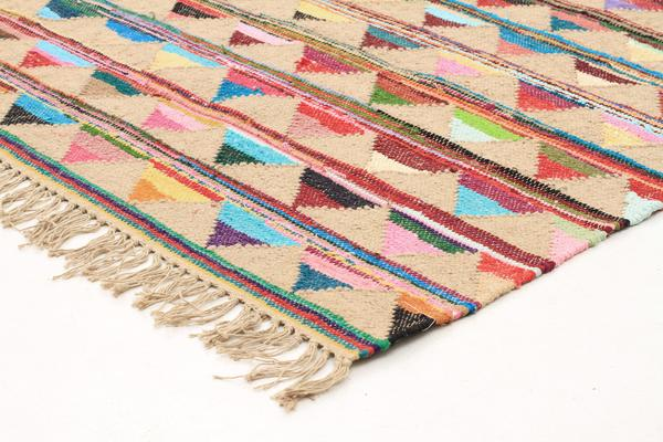 Marlo Naturl Jute and Cotton Rug 270x180cm