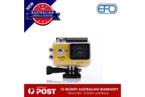 N9Se Portable 30M Waterproof Wi-Fi Loop Recording 1080P Action Camera Yellow