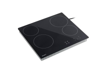 Devanti 6000W Four Burner Ceramic Cooktop with Touch Controls
