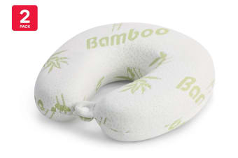 Orbis Bamboo Memory Foam Travel Pillow (2 Pack)