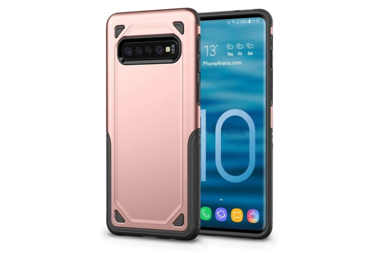 For Samsung Galaxy S10 5G Case  Shockproof Strong Slim Armour Cover  Rose Gold