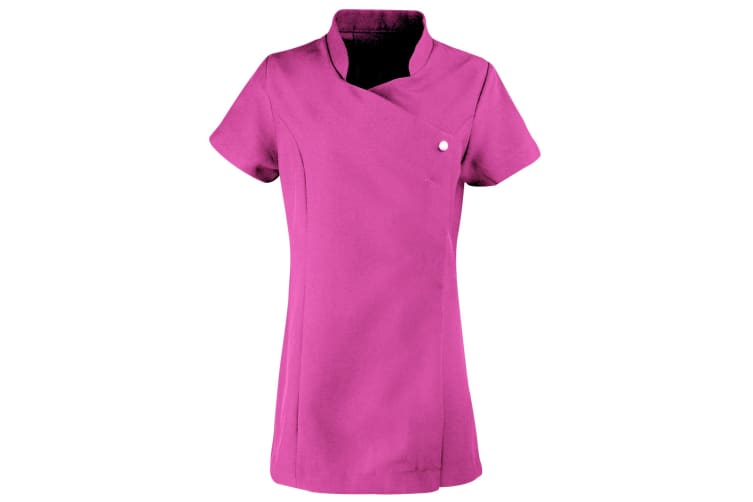 Premier Ladies/Womens *Blossom* Tunic / Health Beauty & Spa / Workwear (Pack of 2) (Hot Pink) (16)