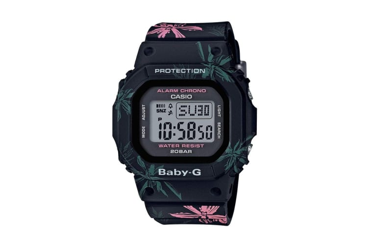Casio Baby-G Digital Watch with Resin Band - Floral (BGD560CF-1D)