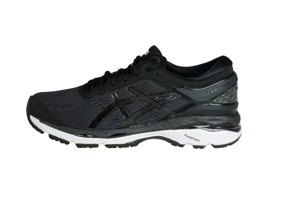 ASICS Women's Gel-Kayano 24 Running Shoe (Black/Phantom/White, Size 7)