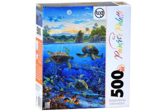 Painter's Palette 500 Piece Puzzle - Tapestry Of Color