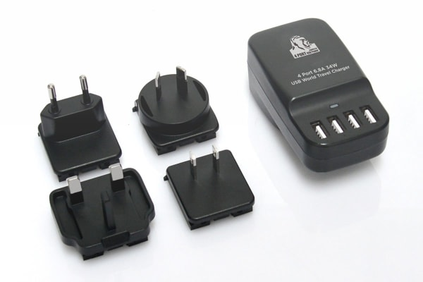 mbeat Gorillia Power 34W 4 Port USB Travel Charger - US/UK/EU/AU (CHGR-4U-BLK)
