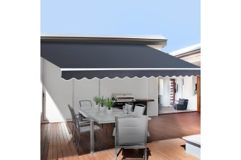 Motorised Folding Arm Awning Retractable Outdoor Sunshade5X3M