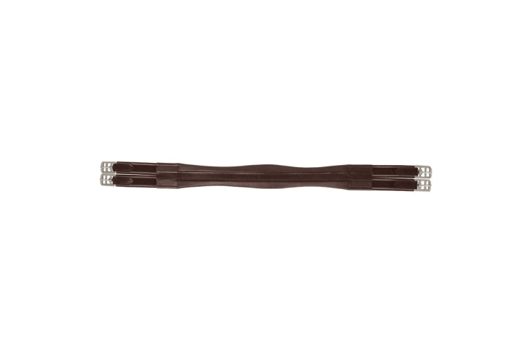 HyCOMFORT Leather Padded Double Elasticated Atherstone Girth (Brown) (44in)