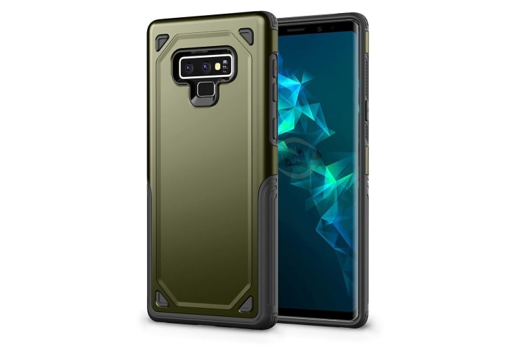For Samsung Galaxy Note 9 Back Cover Army Green Rugged Armour Protective Cover