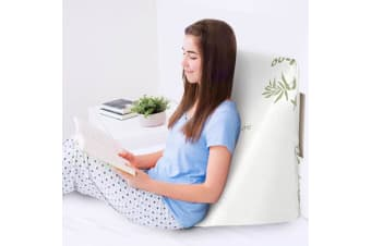 Wedge Pillow Cushion Bed Backrest Bamboo Cover