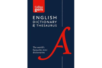 Collins English Dictionary and Thesaurus Gem Edition - Two Books-in-One Mini Format