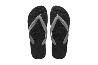 Havaianas Color Mix Thongs (Black/Steel Grey, Size 35/36 BR)