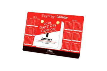 Tallon 2019 Red & Black Day To View Tear Off Desktop Calendar (Red/Black) (One Size)