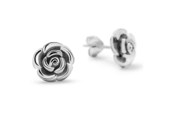 .925 Silver Rose Studs 7mm-Silver