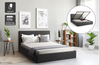 Shangri-La Stowe Gas Lift Bed Frame (Charcoal)