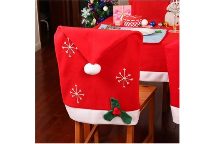 Christmas Chair Back Covers.Christmas Chair Back Covers Red Santa Hat Chair Slipcover For Dining Room Decor