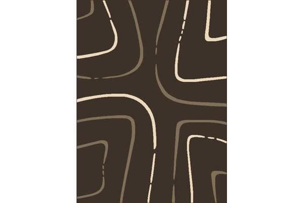 Curves Rug Brown Beige Cream 230x160cm