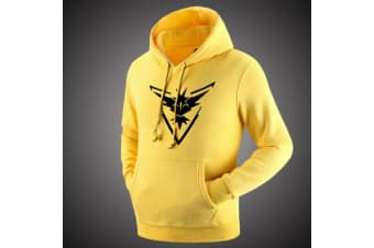 Pokemon Go Team Valor Mystic Instinct Pokeball Hoodies Sweaters Pullover Hooded - Team Instinct (Yellow-Black) - Team Instinct (Yellow-Black)
