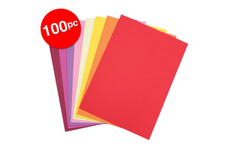 2x 50pc Colourful Days A3 Board 200GSM Warm Craft School Paper Assorted Colours