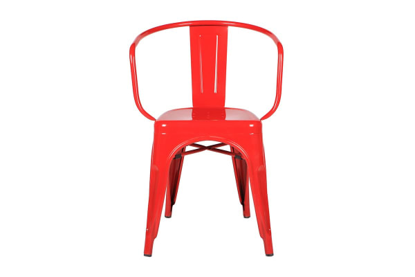 Ovela Set of 2 Tolix Replica Dining Chairs (Red)