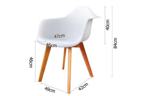 Set of 2 Replica Eames Armchairs (White)